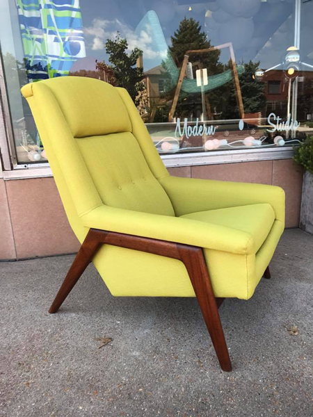 Fohlke Ohlsson style chair reupholstered by Jeff.