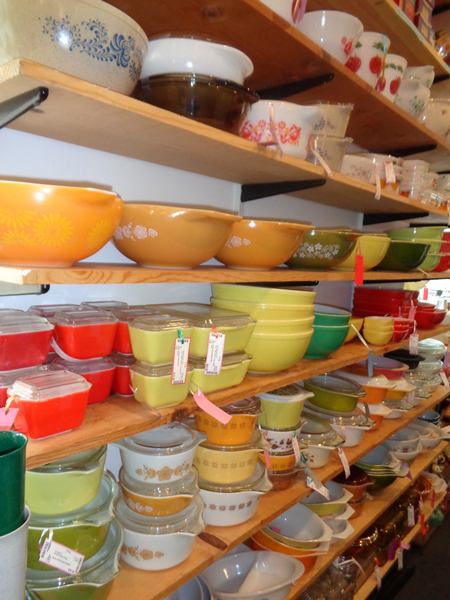 Look at all that Pyrex!