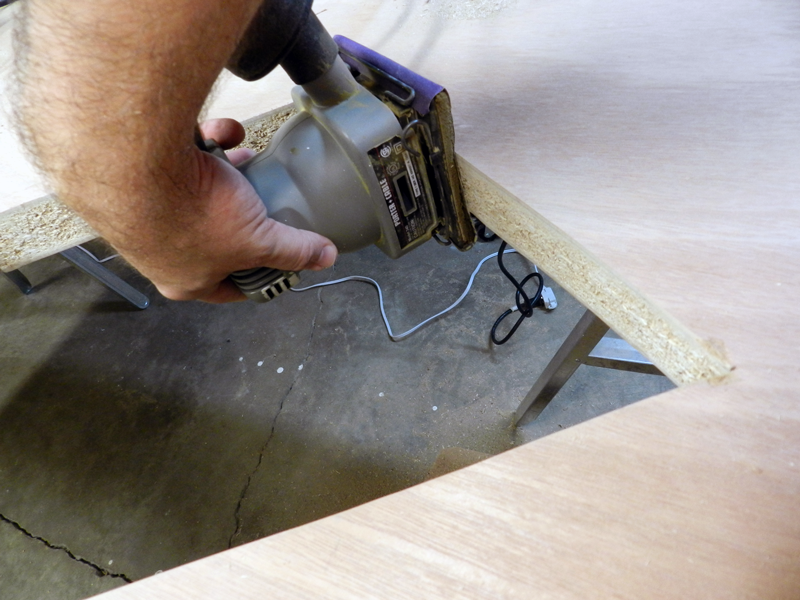 A little sanding of the high spots will help your frame fit like a glove.