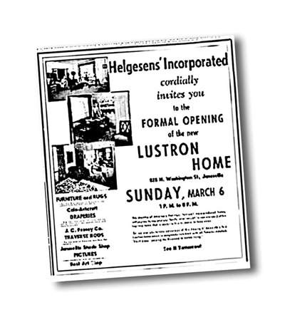Newspaper advertisement for a Lustron open house.