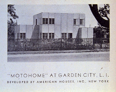 "The ""Moto-home"" prefab unit by American Houses  (via Columbia University's   ""Call it Home: The House That Private Enterprise   Built"")"