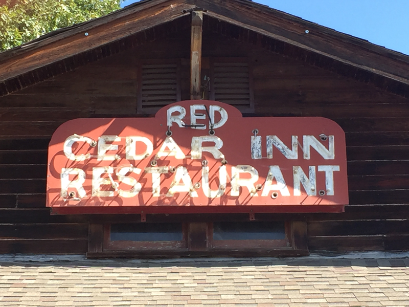Red Cedar Inn Sign