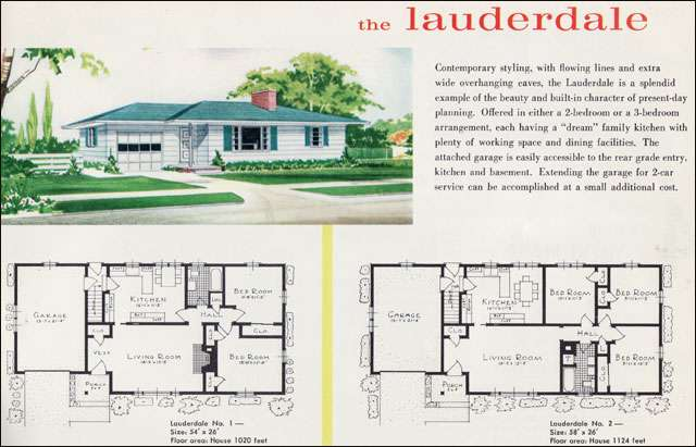 1960 Liberty Ready Cut Homes - The Lauderdale - Shutters again on the picture window.