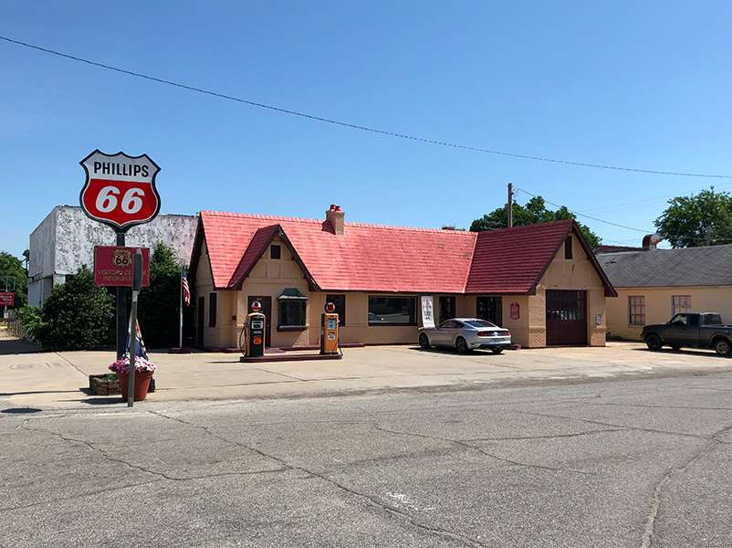 Route 66 Visitor's Center in Baxter Springs, Kansas.