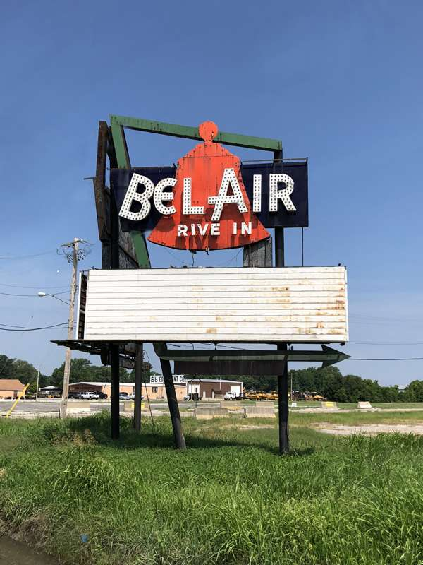 Right side of the Bel-Air drive-in sign.