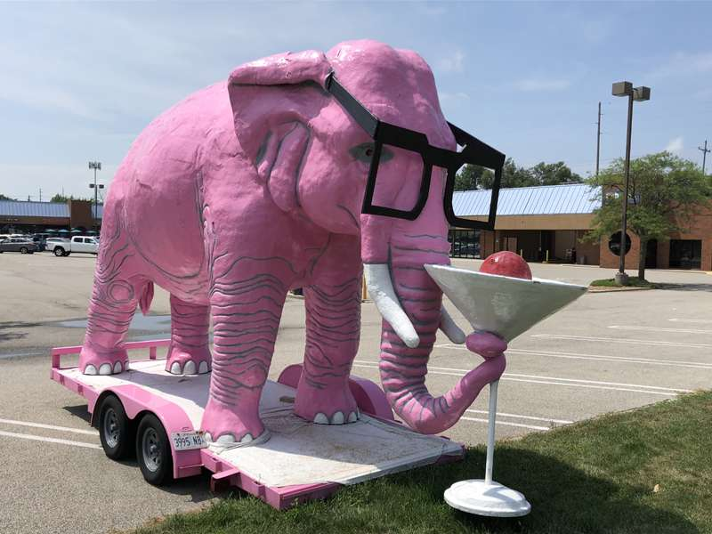 The Pink Elephant of Springfield, Illinois.
