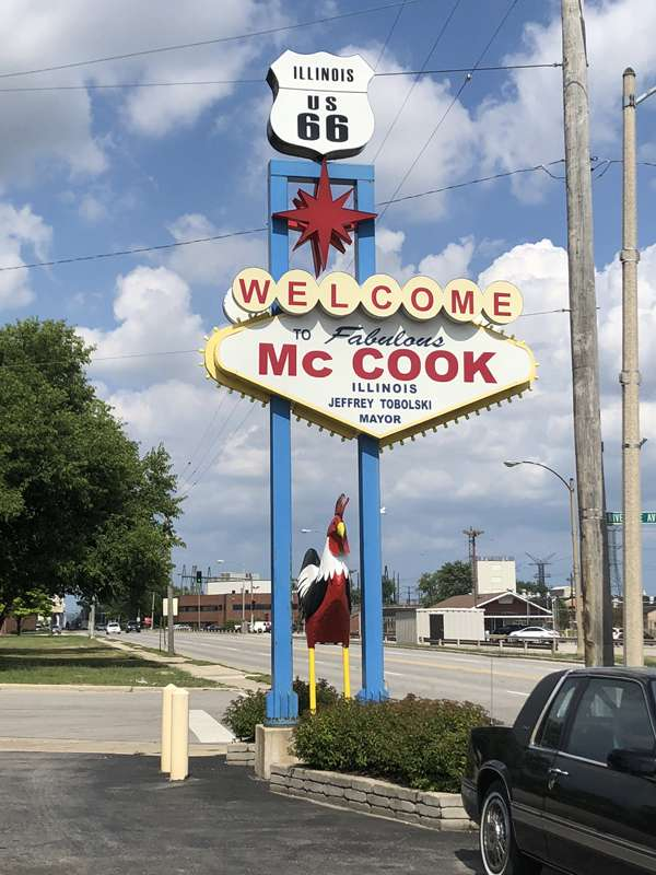 Las Vegas knockoff sign for McCook, Illinois.
