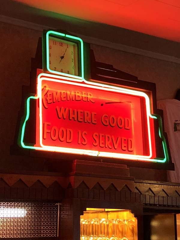 """Remember Where Good Foor is Served"" at the Ariston Cafe."