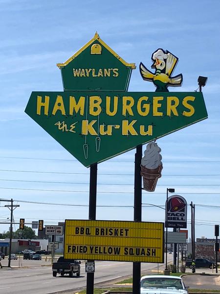 The Ku-Ku Hamburgers sign in Miami, Oklahoma.