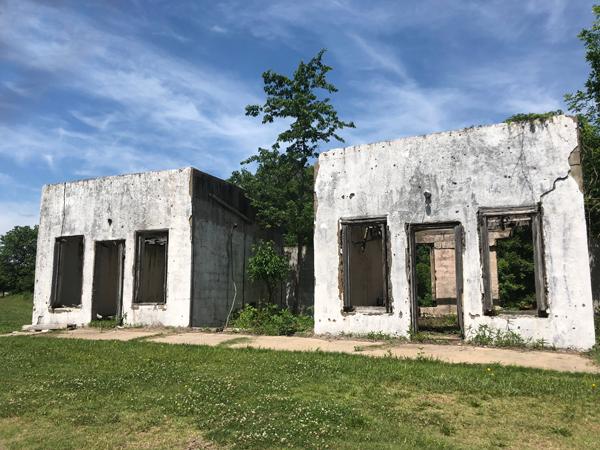 Abandoned motel ruin outside Afton, Oklahoma.