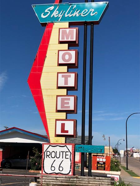 The Skyliner Motel in Stroud, Oklahoma.