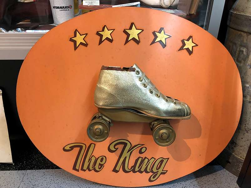 From the Litchfield Museum - I don't know who The King was, but he has some groovy skates!