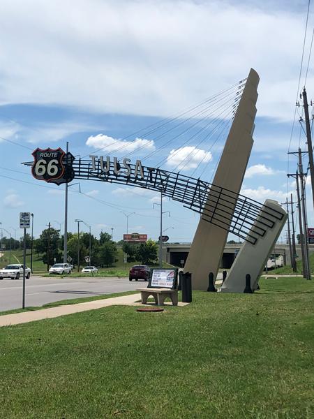Tulsa, Oklahoma Route 66 signage.