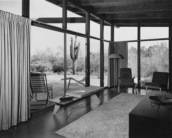 The first Fingado house bedroom looking out onto the porch and the landscape beyond. (2)