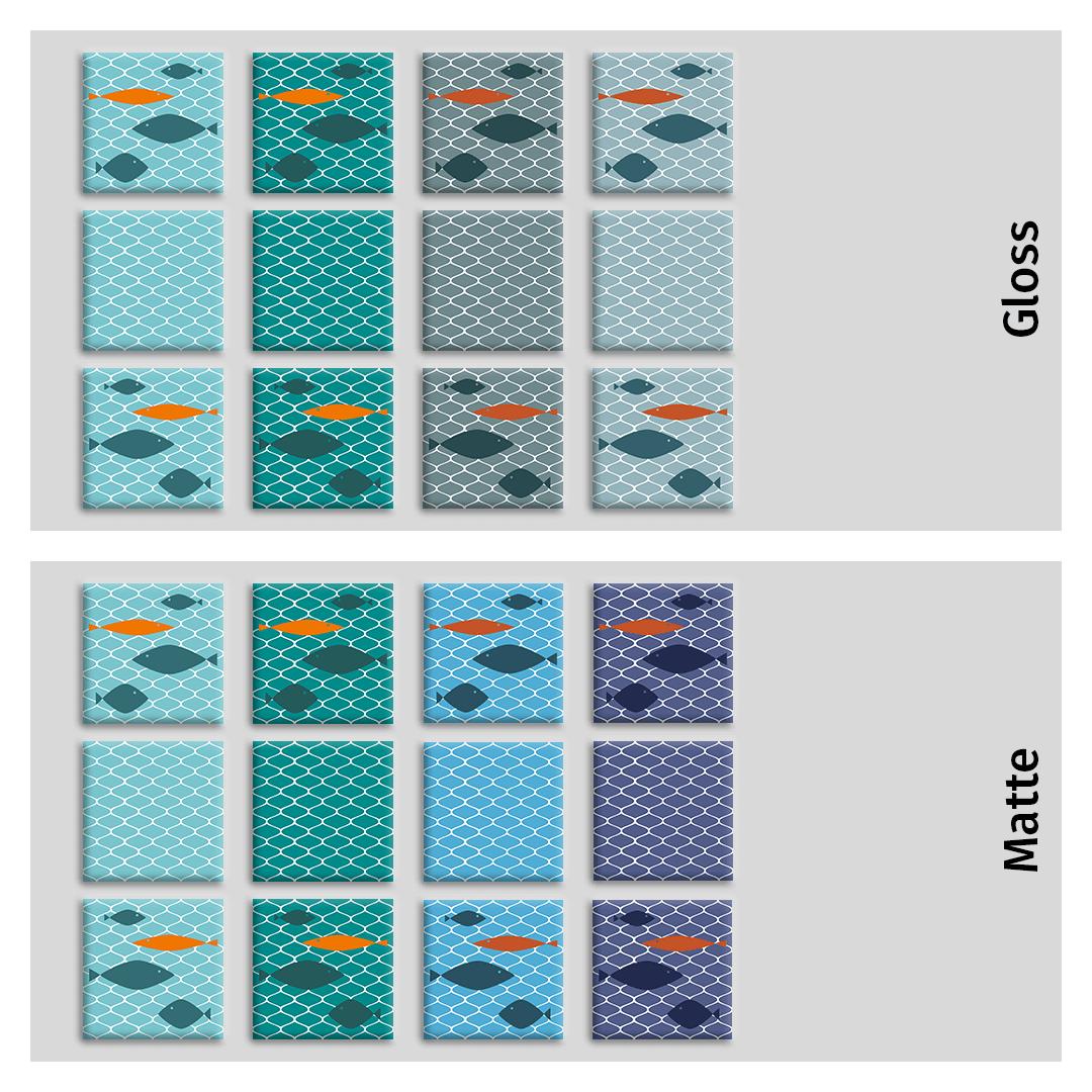 Fish Net Mural All